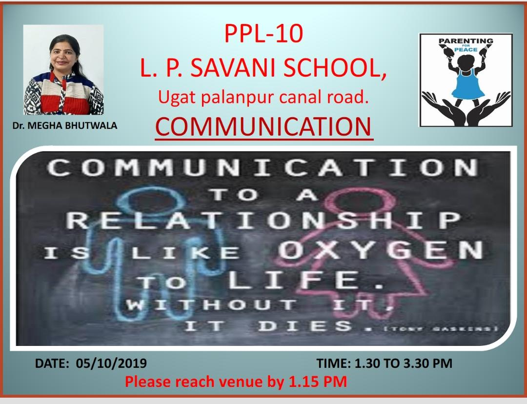 Seminar on Parenting -Topic- Communication