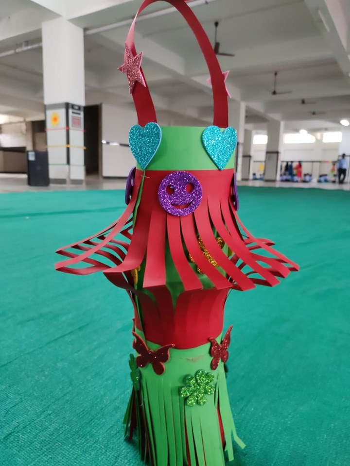 Lantern making competition for parents